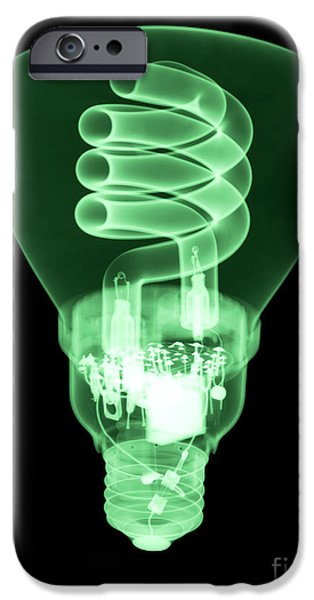 Energy Efficient Light Bulb iPhone Case by Ted Kinsman