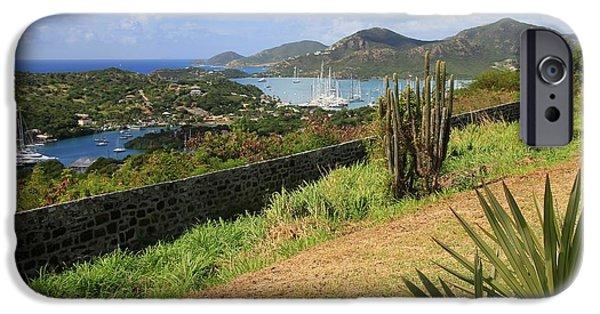 Sailboat Ocean iPhone Cases - English Harbor Antigua iPhone Case by Sophie Vigneault