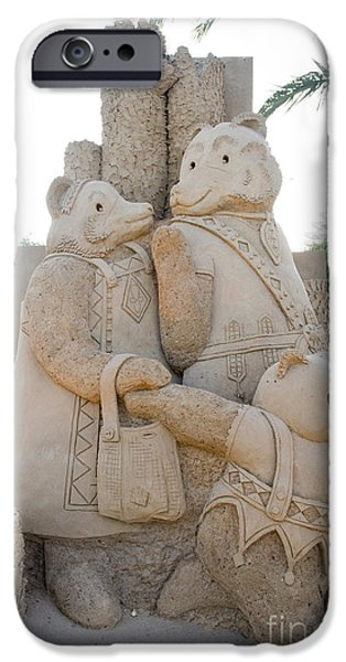 Sand Castles iPhone Cases - Fairytale Sand Sculpture  iPhone Case by Sv