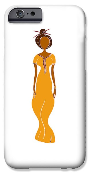 Abstract Fashion Art iPhone Cases - Fashion Drawing iPhone Case by Frank Tschakert