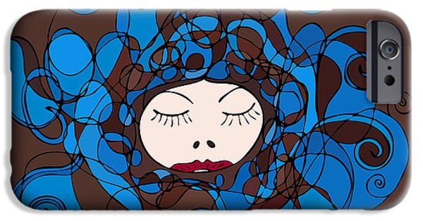 Sublime iPhone Cases - Fashion Illustration iPhone Case by Frank Tschakert