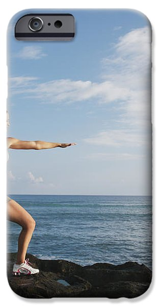 Female doing Yoga iPhone Case by Brandon Tabiolo - Printscapes