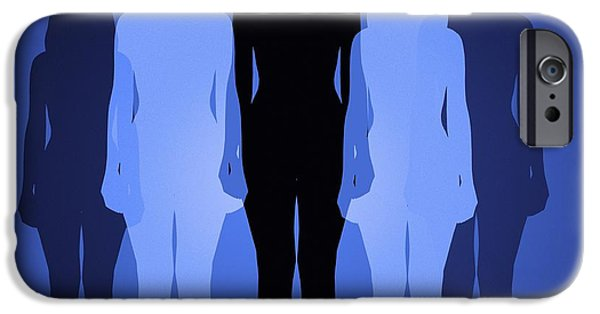 Ego iPhone Cases - Female Identity, Conceptual Image iPhone Case by Victor De Schwanberg