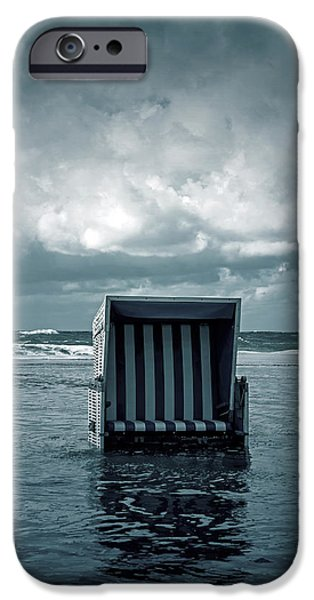 Beach Chair iPhone Cases - Flood iPhone Case by Joana Kruse