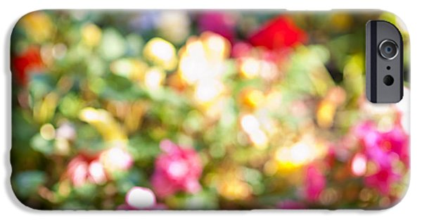 Botanical Photographs iPhone Cases - Flower garden in sunshine iPhone Case by Elena Elisseeva