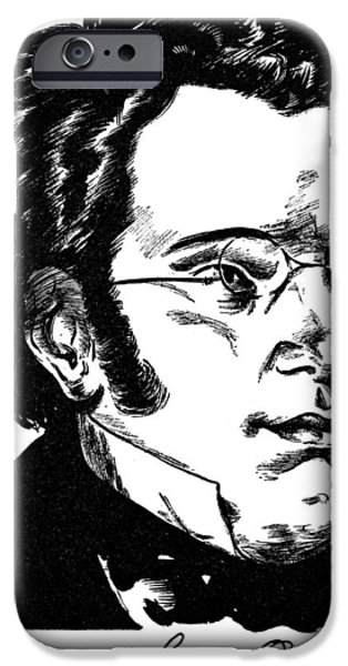 Autographed iPhone Cases - Franz Schubert (1797-1828) iPhone Case by Granger