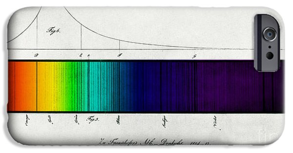 Color Enhanced iPhone Cases - Fraunhofer Lines iPhone Case by Science Source