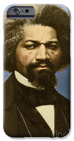Abolition Movement iPhone Cases - Frederick Douglass African-american iPhone Case by Photo Researchers