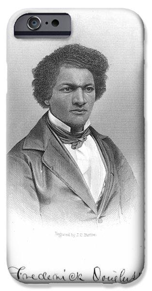Frederick Douglass iPhone Cases - Frederick Douglass iPhone Case by Granger
