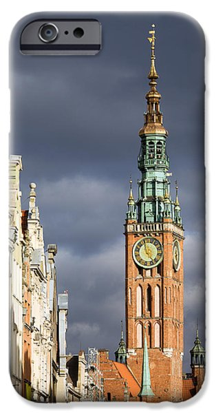 Polish Culture iPhone Cases - Gdansk Old Town iPhone Case by Artur Bogacki