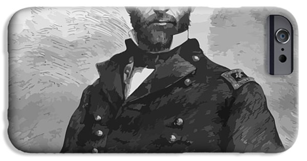 America Mixed Media iPhone Cases - General Sherman iPhone Case by War Is Hell Store