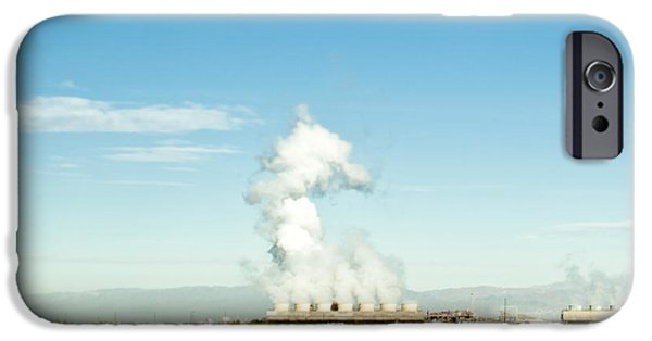 Popular iPhone Cases - Geothermal Plant iPhone Case by Eddy Joaquim