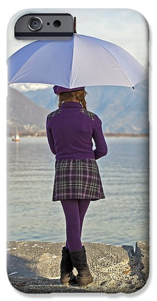 Girl with umbrella iPhone Case by Joana Kruse