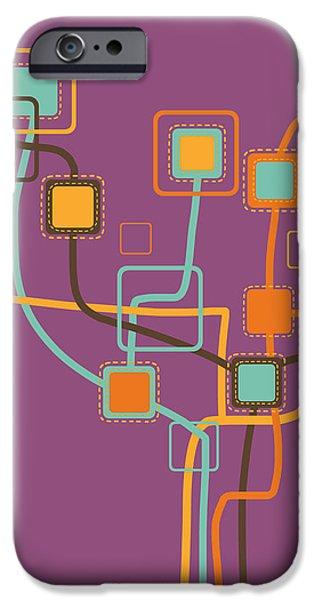 graphic tree pattern iPhone Case by Setsiri Silapasuwanchai