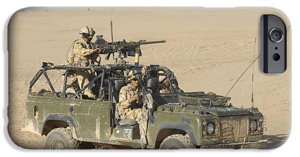 Wolf Image iPhone Cases - Gurkhas Patrol Afghanistan In A Land iPhone Case by Andrew Chittock