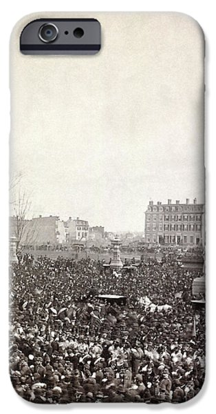 Inauguration iPhone Cases - Hayes Inauguration, 1877 iPhone Case by Granger
