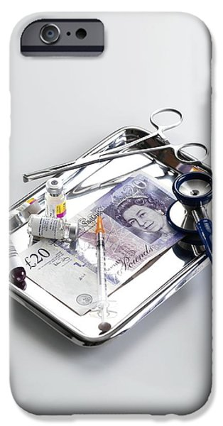 Healthcare And Medicine iPhone Cases - Healthcare Costs iPhone Case by Tek Image