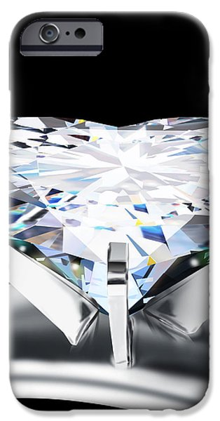 heart diamond iPhone Case by Setsiri Silapasuwanchai