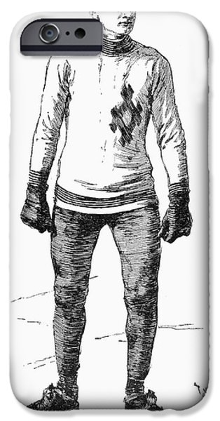 ICE SKATER, 1880 iPhone Case by Granger