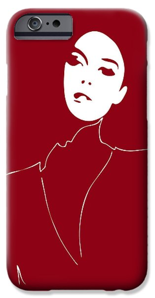 Abstract Fashion Art iPhone Cases - Illustration of a woman in fashion iPhone Case by Frank Tschakert