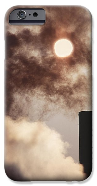 Pollutant iPhone Cases - Industrial Air Pollution iPhone Case by Jeremy Walker