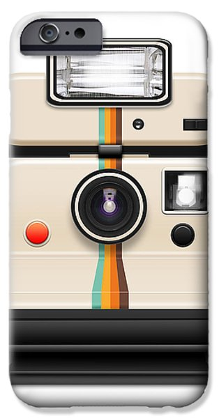 instant camera with a blank photo iPhone Case by Setsiri Silapasuwanchai