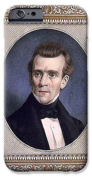 James Polk, 11th American President iPhone Case by Photo Researchers