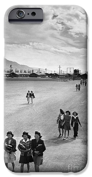 Japanese School iPhone Cases - Japanese Internment, 1943 iPhone Case by Granger