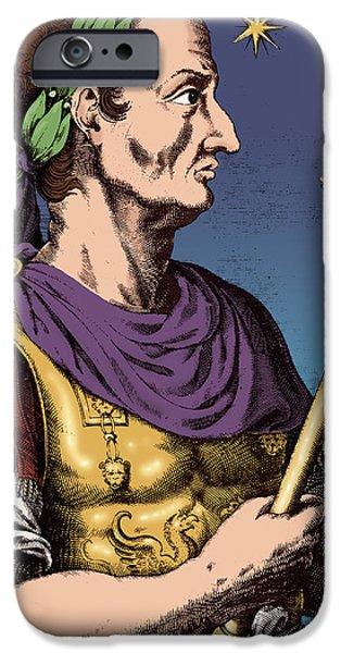 Julius Caesar iPhone Cases - Julius Caesar, Roman General iPhone Case by Photo Researchers