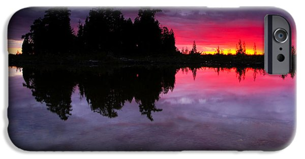 Great Lakes iPhone Cases - Lake Huron Sunset iPhone Case by Cale Best