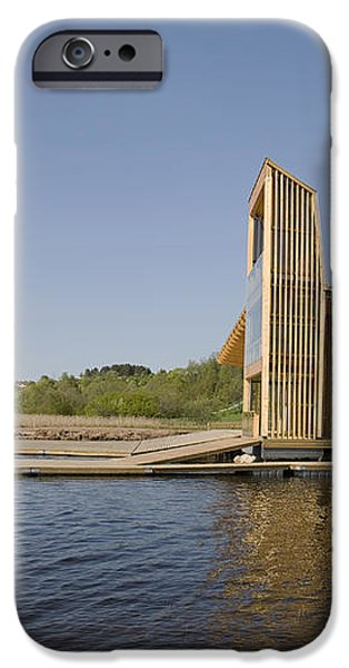 Lakeside Building And Dock iPhone Case by Jaak Nilson