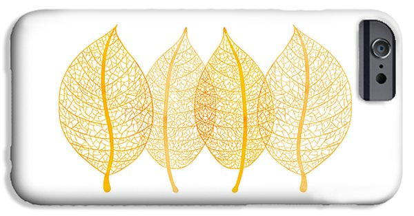 Botanic Illustration iPhone Cases - Leaves iPhone Case by Frank Tschakert