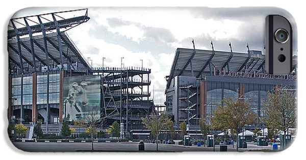 Lincoln iPhone Cases - Lincoln Financial Field iPhone Case by Jack Paolini