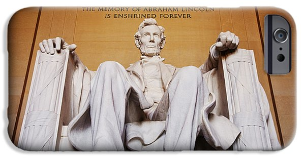 Honest Abe iPhone Cases - Lincoln Memorial iPhone Case by Brian Jannsen