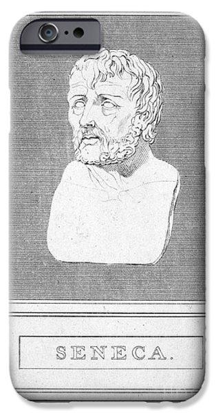 Best Sellers -  - Statue Portrait iPhone Cases - Lucius Annaeus Seneca iPhone Case by Granger