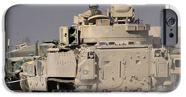 Freedom iPhone Cases - M2m3 Bradley Fighting Vehicle iPhone Case by Terry Moore