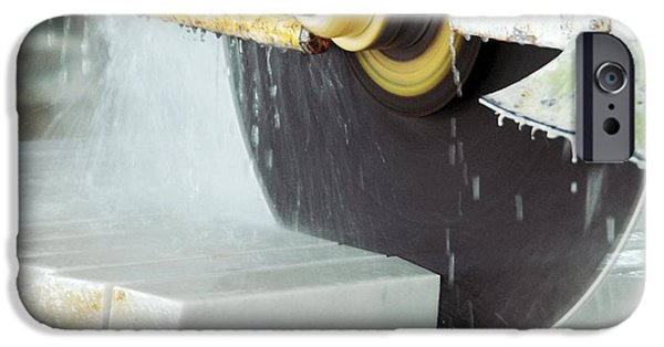 Circular Saw iPhone Cases - Marble Quarrying iPhone Case by Ria Novosti