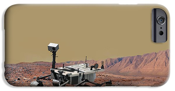 Collect Digital Art iPhone Cases - Mars Science Laboratory iPhone Case by Stocktrek Images