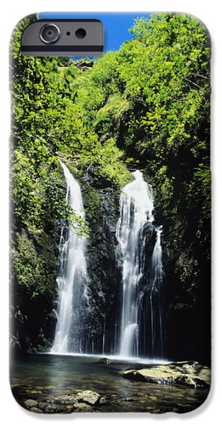 David iPhone Cases - Maui Waterfall iPhone Case by Dave Fleetham - Printscapes