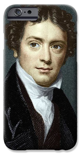 Michael iPhone Cases - Michael Faraday, British Physicist iPhone Case by Sheila Terry