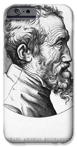 MICHELANGELO (1475-1564) iPhone Case by Granger