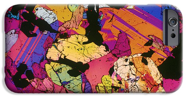 Micrography iPhone Cases - Moon Rock, Transmitted Light Micrograph iPhone Case by Michael W. Davidson - FSU