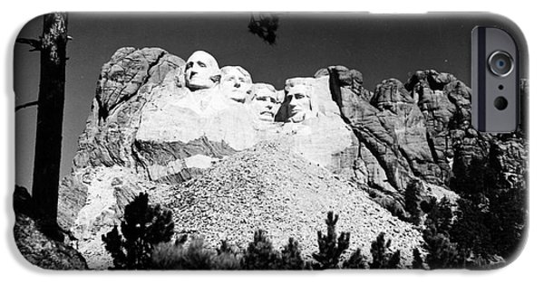 Best Sellers -  - Statue Portrait iPhone Cases - Mount Rushmore iPhone Case by Granger