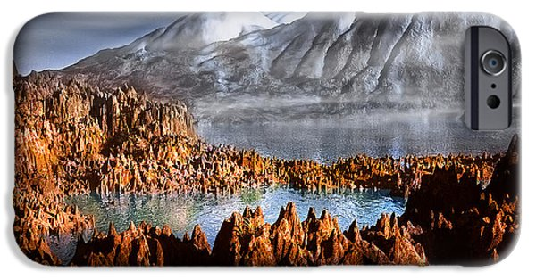 Fog Mist Mixed Media iPhone Cases - Mountains iPhone Case by Svetlana Sewell