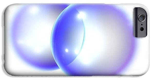 Atom Photographs iPhone Cases - Nitrogen Molecule iPhone Case by Pasieka