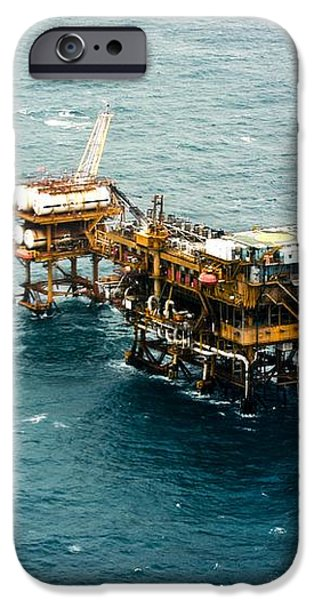 Oil Platform iPhone Case by Arno Massee