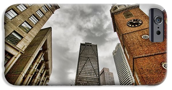 City. Boston iPhone Cases - Old South Meeting House iPhone Case by Joann Vitali