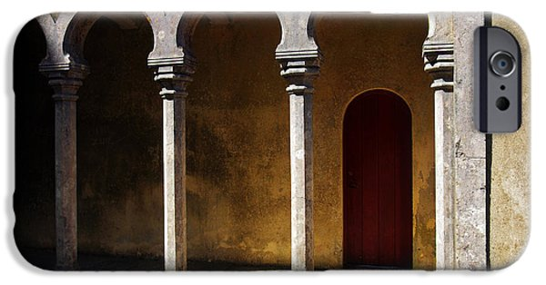 Balcony iPhone Cases - Palace arch iPhone Case by Carlos Caetano