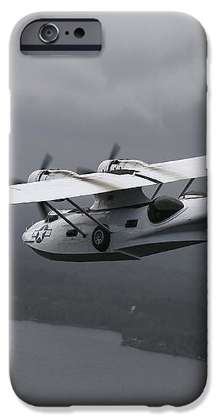 Pby Catalina Vintage Flying Boat iPhone Case by Daniel Karlsson