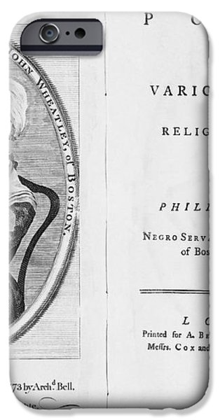 Phillis Wheatley, African-american Poet iPhone Case by Photo Researchers